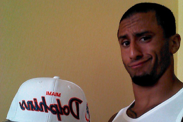 Colin Kaepernick Creates Stir by Wearing Miami Dolphins Hat