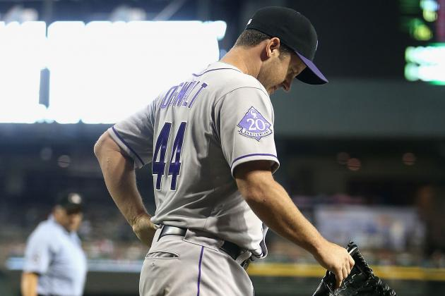 Carlos Gonzalez, Roy Oswalt injured as reeling Rockies swept in Arizona
