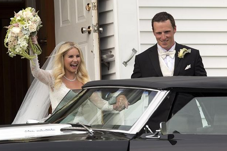 Former Flames defenceman Dion Phaneuf marries actress Elisha Cuthbert