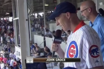 John Groce Throws First Pitch, Sings 'Take Me Out to the Ballgame'