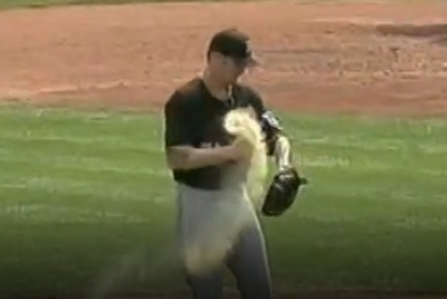 A.J. Burnett Has Rosin Bag Explode on Him For 2nd Time This Season