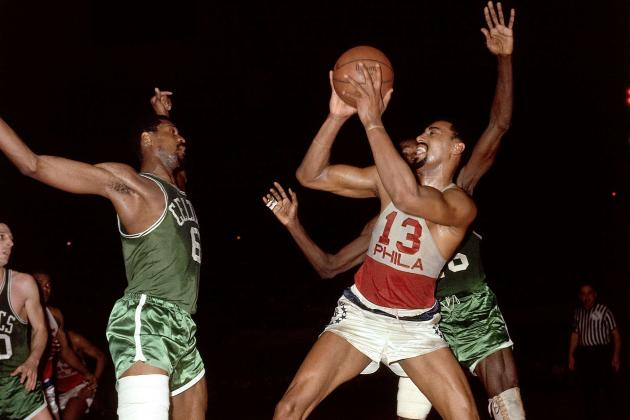 A Young Wilt Chamberlain Is So Lanky He Looks Like a Caricature