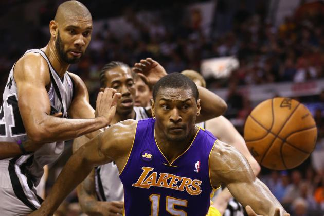 The Good, Bad and Absurd Moments of Metta World Peace's LA Lakers Tenure