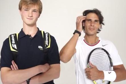 Rafael Nadal Impersonator Meets Rafael Nadal
