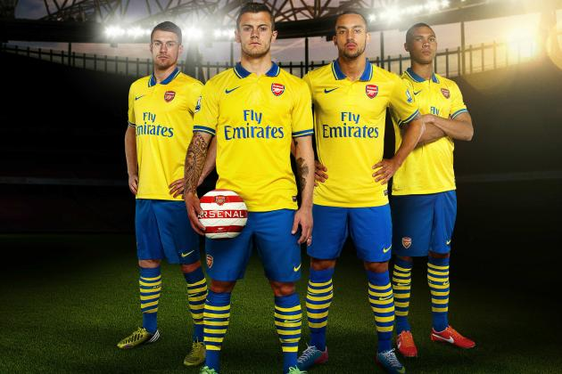 Arsenal Launch New 2013-14 Away Kit at the Emirates Stadium
