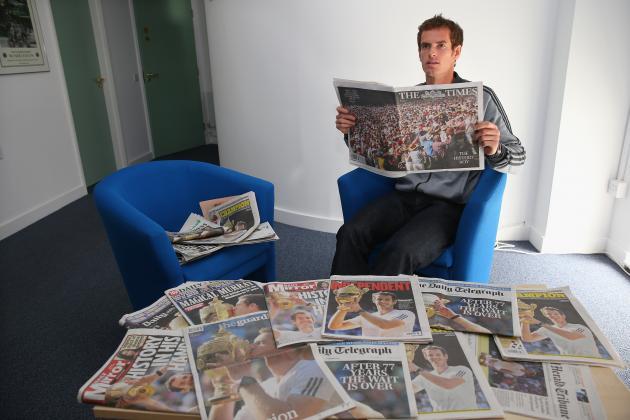 Andy Murray Basking in Social Media Spotlight Following Historic Wimbledon Win