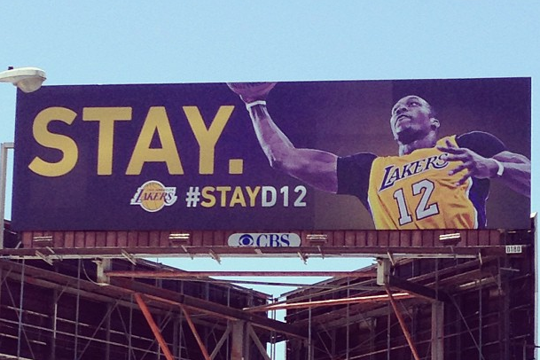 At Least 1 Dwight Howard 'Stay' Billboard Has Yet to Be Taken Down by Lakers