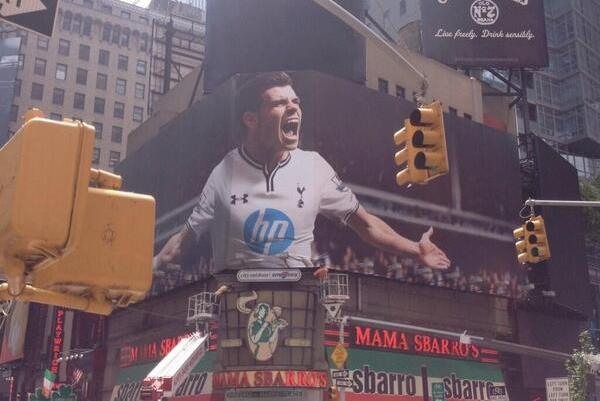 Tottenham's Gareth Bale Gets Times Square Billboard in New York