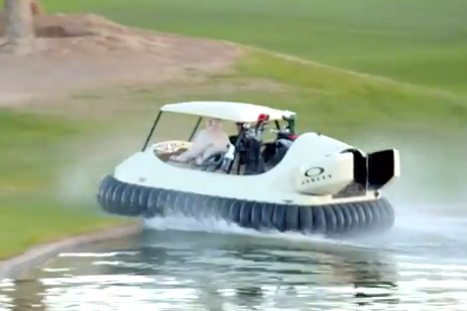 Ohio Golfers Will Ride with Bubba Watson in Hovercraft Golf Carts