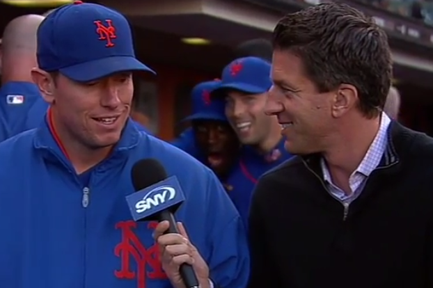 Video: Mets Videobomb Jeremy Hefner