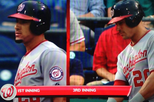 Ian Desmond Tries a Mid-Game Rally Shave Against the Philadelphia Phillies