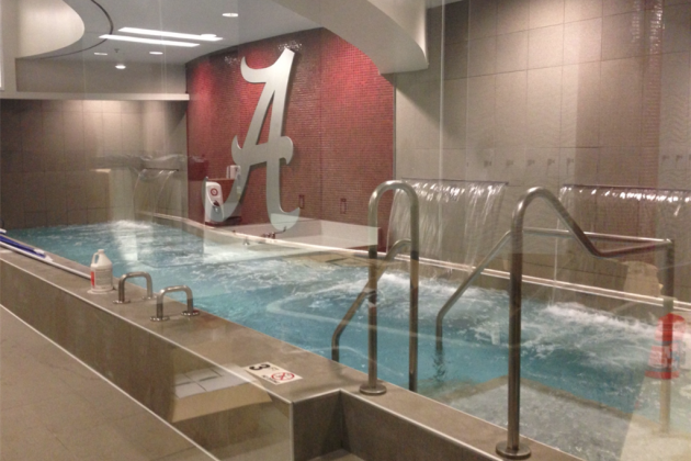 Photo: Alabama's New Locker Room Waterfall Is Awesome