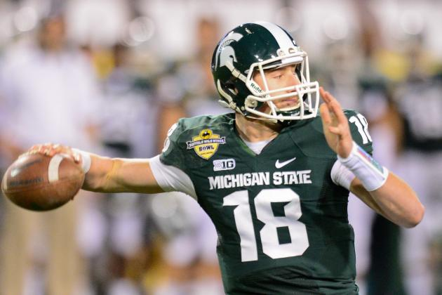 Connor Cook Works out with Quarterbacks Guru George Whitfield in California