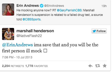 Erin Andrews and Marshall Henderson Are Twitter Beefing