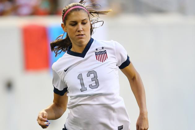 Alex Morgan Gets Soaked by Hose for Fox Sports 1 Promo