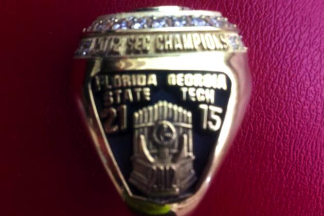 Florida State Seminoles' Menelik Watson's Title Ring Says 'SEC Champs,' Not ACC