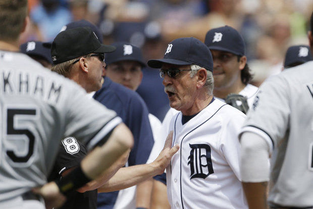Benches Clear in Tigers-White Sox Game, Jim Leyland Goes Crazy