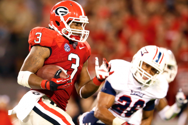 Analyzing How Todd Gurley Compares to Georgia Bulldogs' Legend Herschel Walker