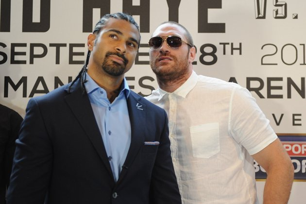 Haye, Fury Trade Verbal Jabs at Presser for Sept. 28 Fight