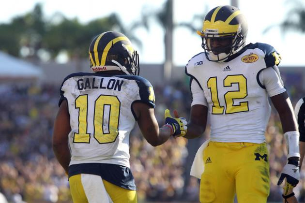 Michigan Football: Wolverines Have 1,000-Yard WR-QB Tandem in Gardner and Gallon