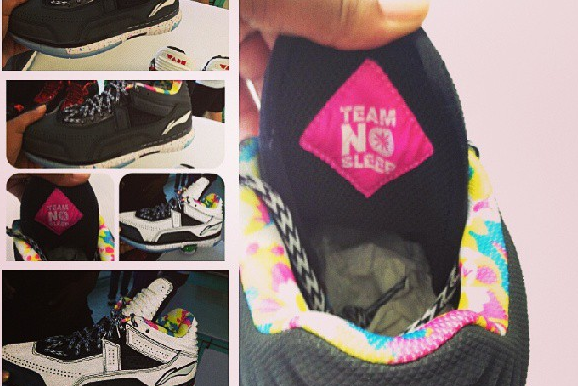 Instagram: Wade's Fly #TeamNoSleep Shoes