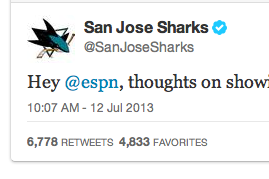 Sharks Troll ESPN on Twitter