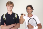 Rafael Nadal Meets His Impersonator