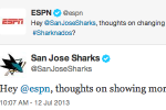 San Jose Sharks Burn ESPN on Twitter