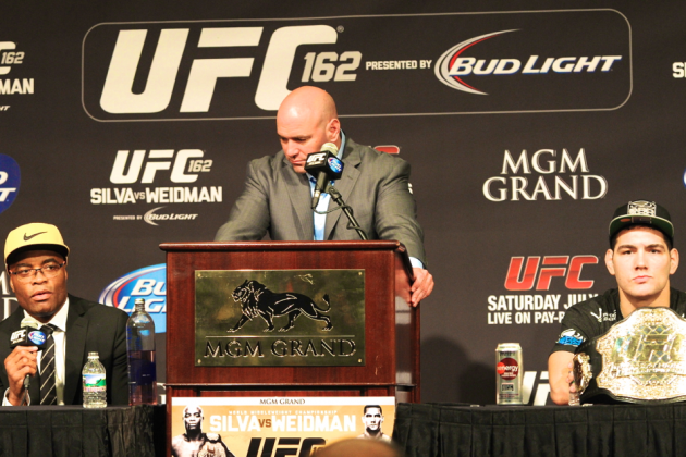 UFC 162 Drug Test Results: All 22 Fighters Tested, All Come Back Negative