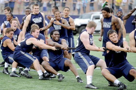 PSU Puts Grueling Workouts on Display for Charity