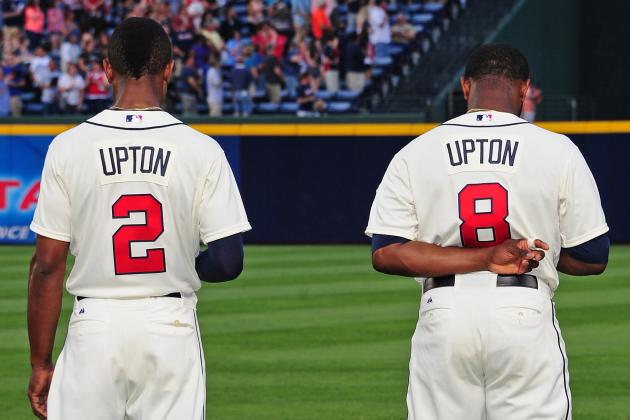 Both Upton Brothers out of Lineup Today vs. Reds