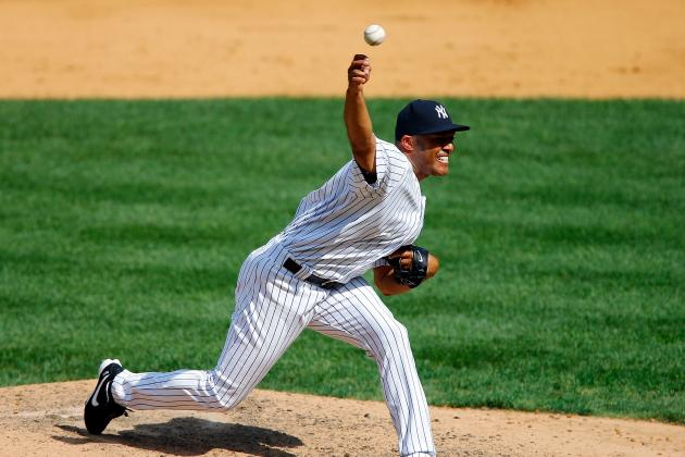 Five Yankees Pitchers Combine to Shut out Twins,2-0, Rain-Soaked Victory