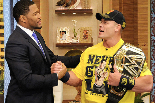 John Cena to 'Wrestle' Michael Strahan on Live with Kelly and Michael