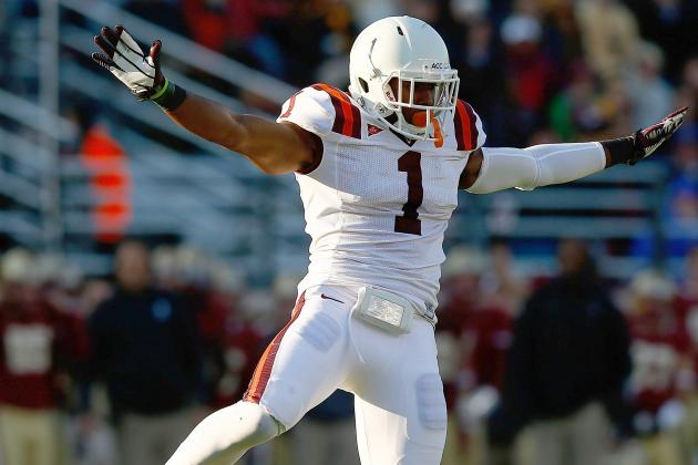 All-Pro Cornerback Revis Urges Virginia Tech's Exum to Take His Time