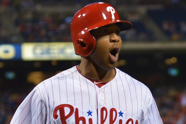 Phillies Place Ben Revere on DL After Suffering Broken Foot