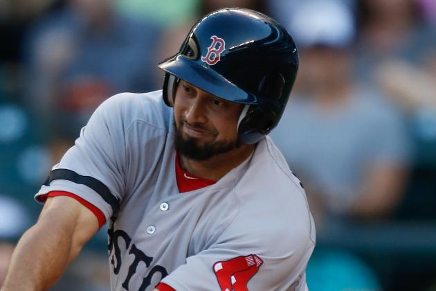 Shane Victorino and Mike Napoli Out of Lineup Today vs. A's