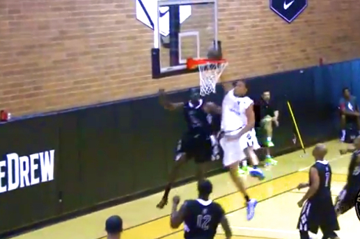 JaVale McGee Posterizes Some Guy in the Nike Drew League