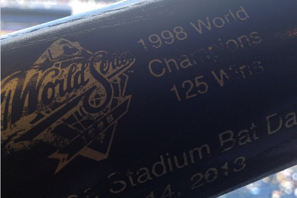 Yankees Give Away 1998 World Series Bats Sunday