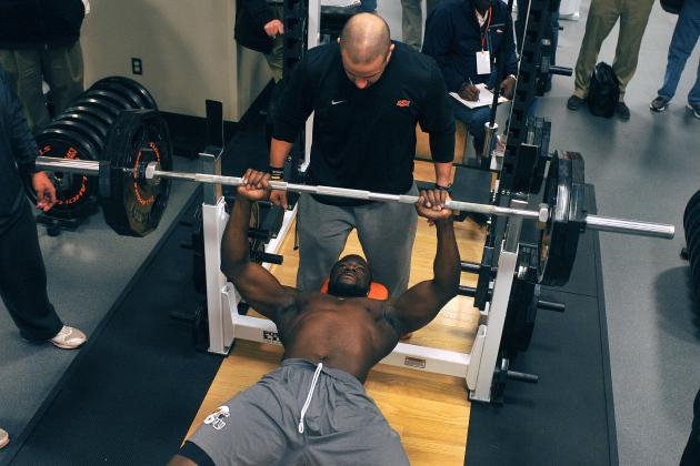 College Football Weightlifting Stats Compared to Average Gym Guy