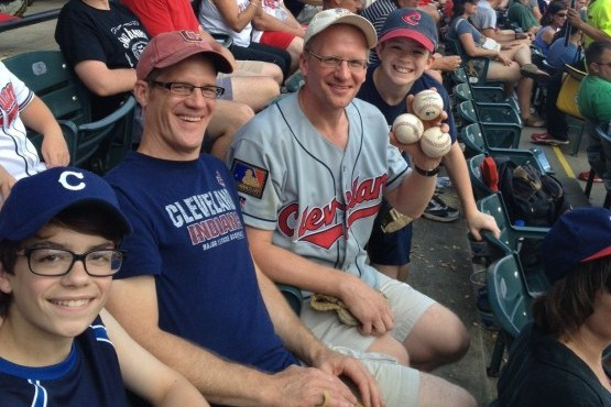 Cleveland Indians Fan Greg Van Niel Catches 4 Foul Balls in the Same Game