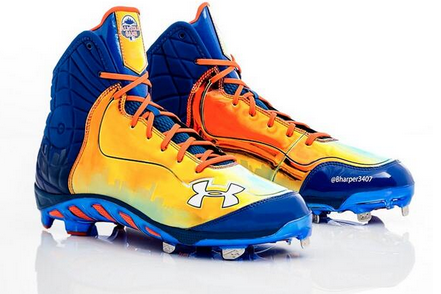 Harper Unveils Special Shoes for Monday's HR Derby