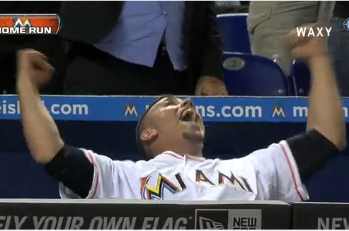 Giancarlo Stanton Crushes a Homer and Jose Fernandez Loses His Mind