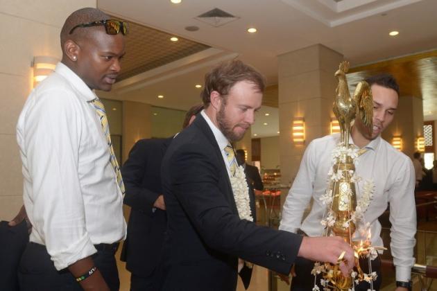 South Africa Arrive in Sri Lanka
