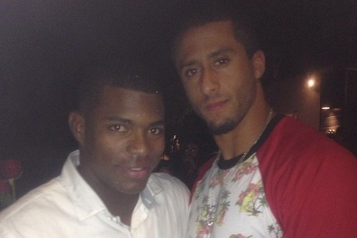 PHOTO: 49ers QB Colin Kaepernick and Dodgers of Yasiel Puig Together