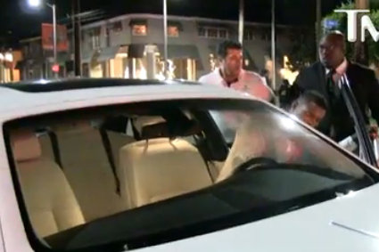 Puig Shows Up in Rolls Royce with Hot Chick