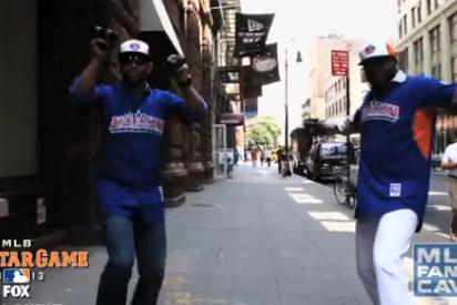 David Ortiz and Jose Bautista 'Prancercise' in NYC to Promote MLB All-Star Game