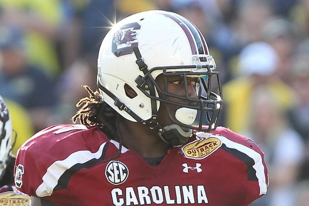 South Carolina's Jadeveon Clowney Ran a '4.4 Something' 40-Yard Dash