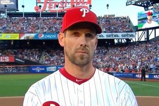 Cliff Lee Ready to Tear Heads Off with Glassy Stare During All-Star Intros