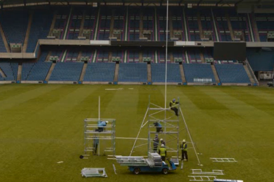 Murrayfield Goalposts Find New Home in Thurso
