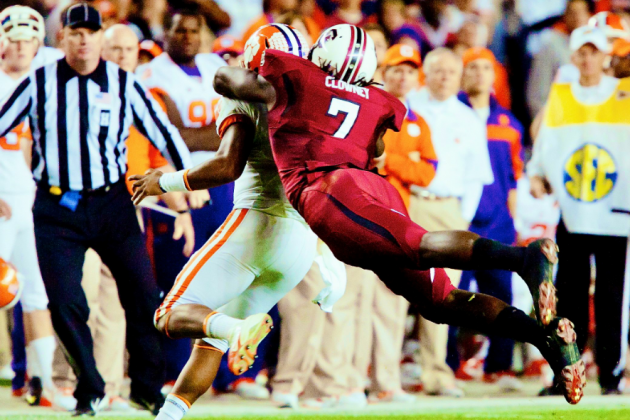 Jadeveon Clowney Says Aaron Murray, Tajh Boyd and More QBs Are Scared of Him